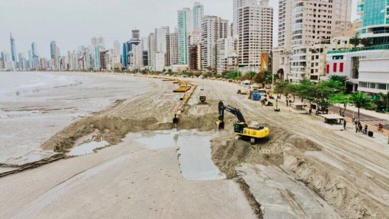 Balneário Camboriu é autuada por executar obras de alagarmento diferentes da licença, diz IMA